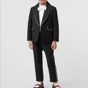 Burberry Piping Detail Wool Mohair Blazer Suit